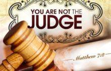 Non giudicare